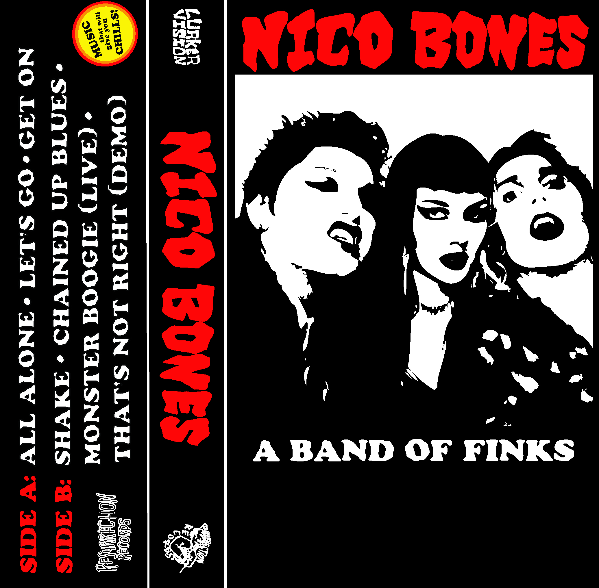 Nico Bones- A Band Of Finks Cassette Tape