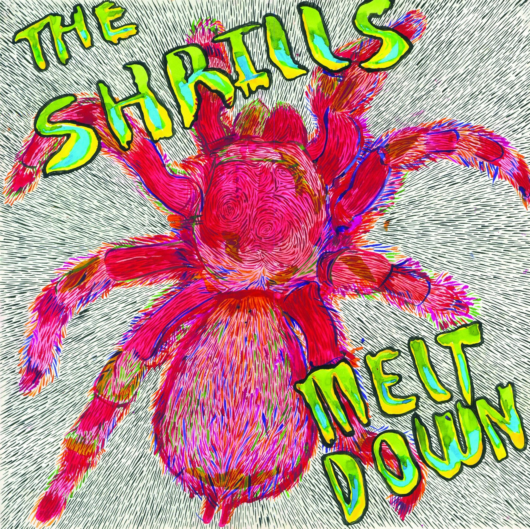 The Shrills- Meltdown LP   **BLUE MARBLE VINYL**
