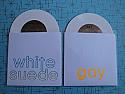 "Gay / White Suede Split 7"" *WHITE VINYL*"
