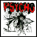 "Psycho- 2010 7""  ~~  Sawblade shaped vinyl!!"