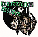 "Resurrection Records 2.25"" Button - ""Bat / Skull"" Logo"